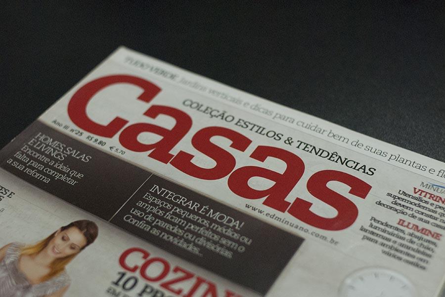 Nesta edição da revista Casas tem foto de Edson Ferreira