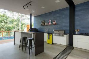 Fotografia de espaço gourmet residencial